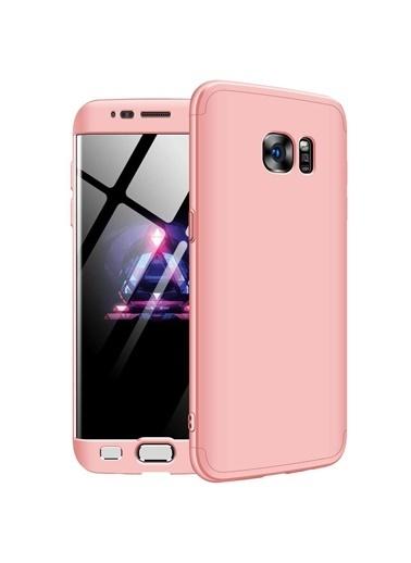 Microsonic Samsung Galaxy S7 Edge Kılıf Double Dip 360 Protective Rose Gold Altın